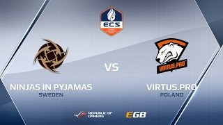 NiP vs Virtus.pro, map 1 overpass, ECS Season 2 Europe