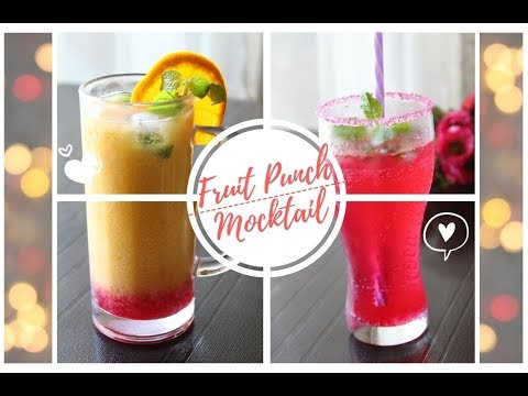 Fruit Punch & Mocktail Recipe - New Year's Eve Party Treats/Drinks