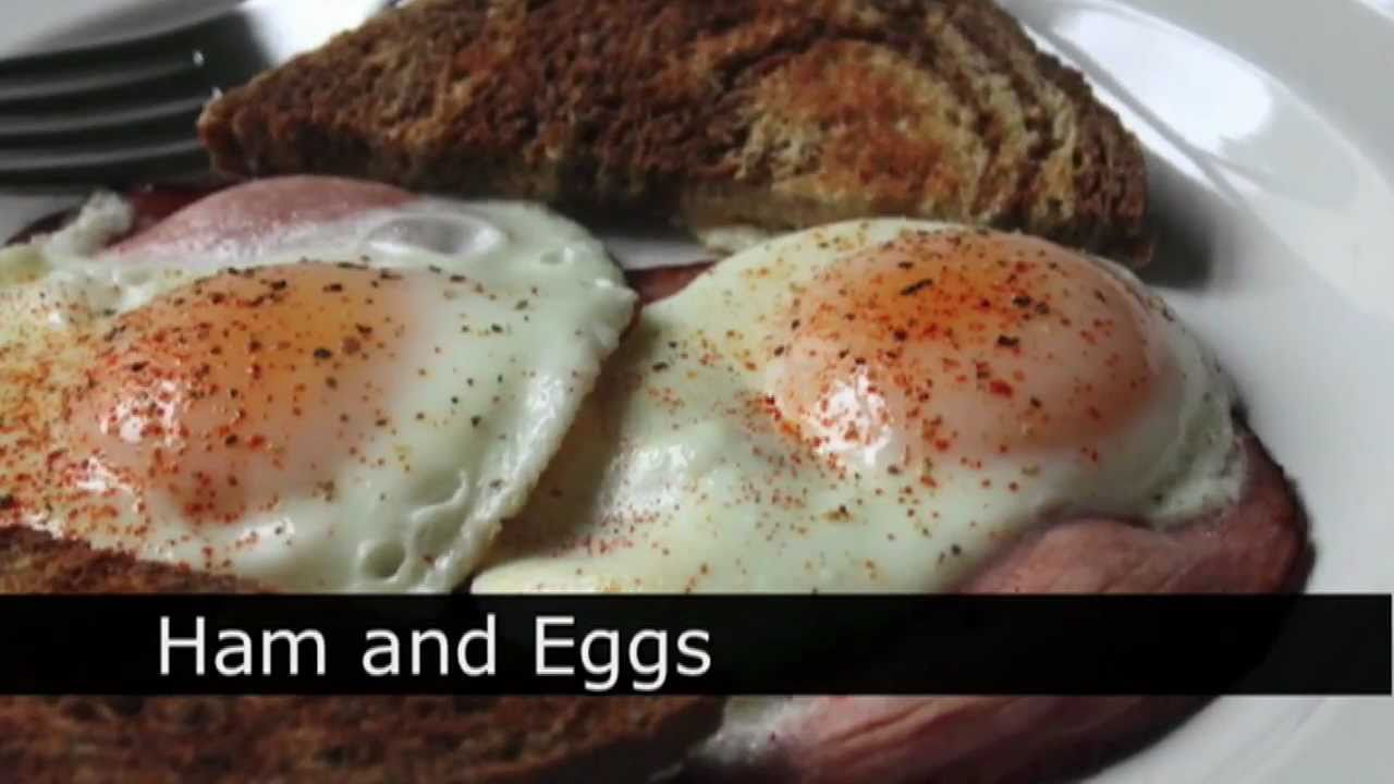 Ham And Eggs Recipe How To Make Ham And Eggs YouTube