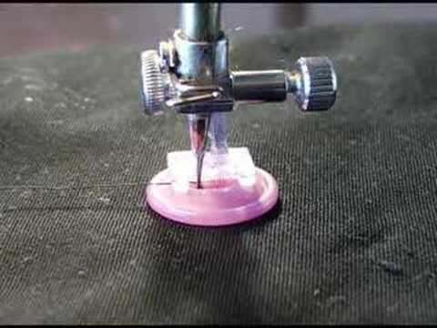 Sewing A Button With A Sewing Machine YouTube New Button Sewing Machine