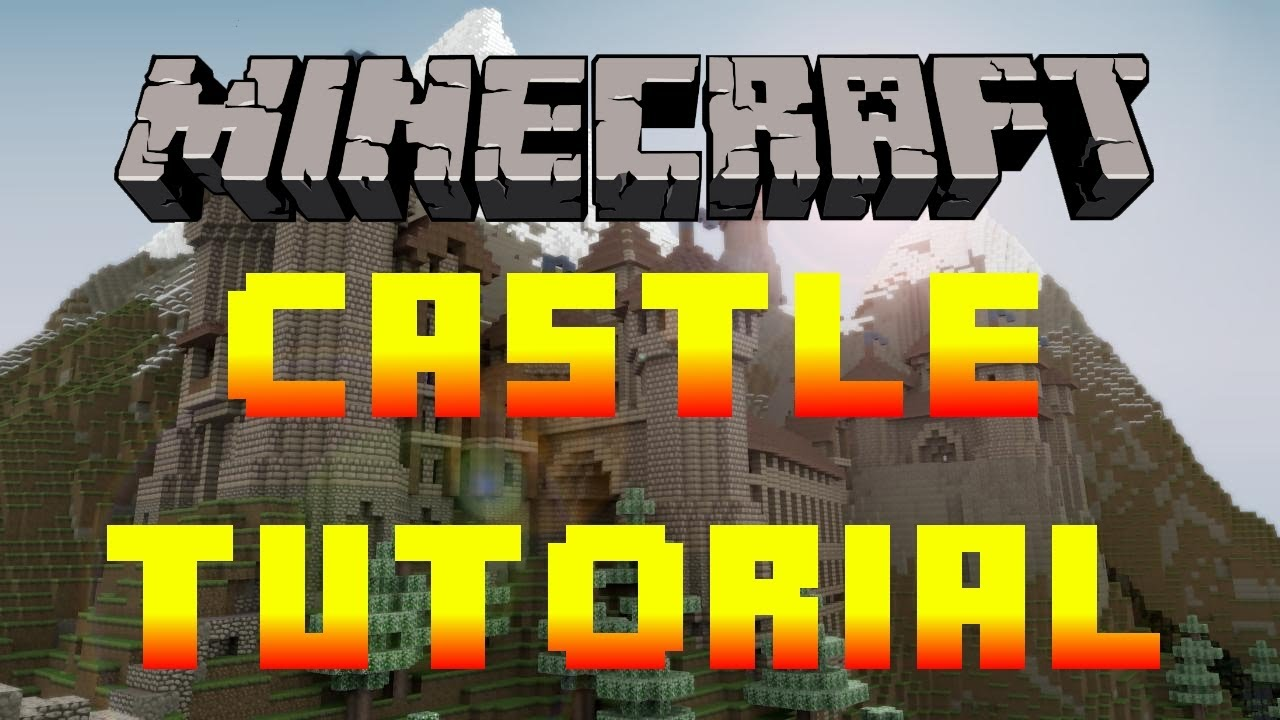 minecraft how to build a castle tutorial xbox pc pe