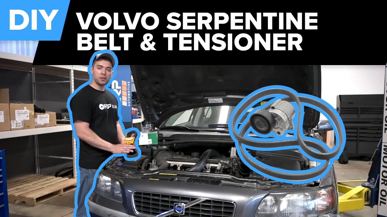 volvo serpentine belt and tensioner replacement s40 s60 s80 v70 xc90  [ 1280 x 720 Pixel ]