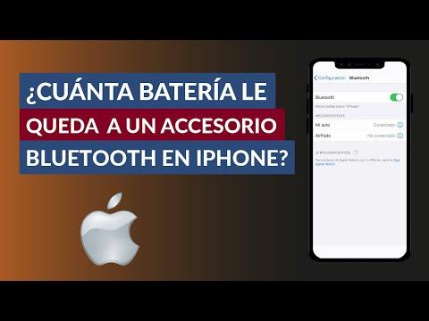Cómo Saber Cuanta Batería le Queda a un Accesorio Bluetooth en iPhone iOS