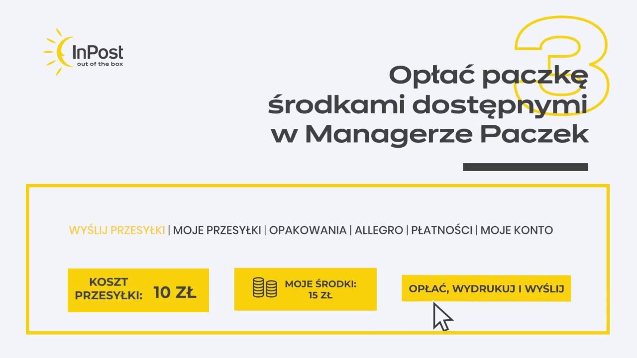 Inpost Jak Nadac Przesylke W Paczkomacie Za Pomoca Managera Paczek Youtube