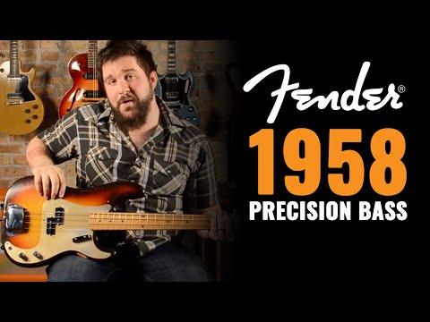 1958 Fender Precision Bass 3 Tone Sunburst With Gold Pick
