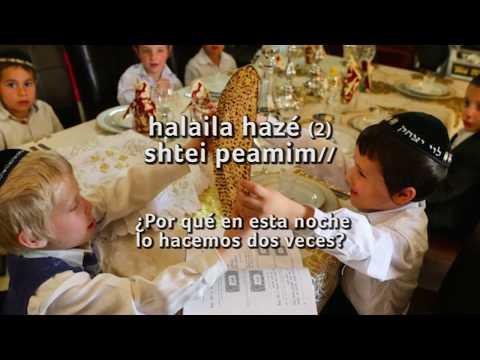 Ma Nishtana - Canciones de PESAJ en hebreo - Subtítulos en español from YouTube · Duration:  3 minutes 23 seconds