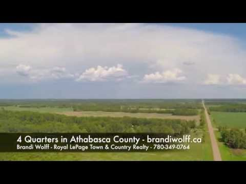 Alberta Aerial Video - 4 Quarters in Athabasca County