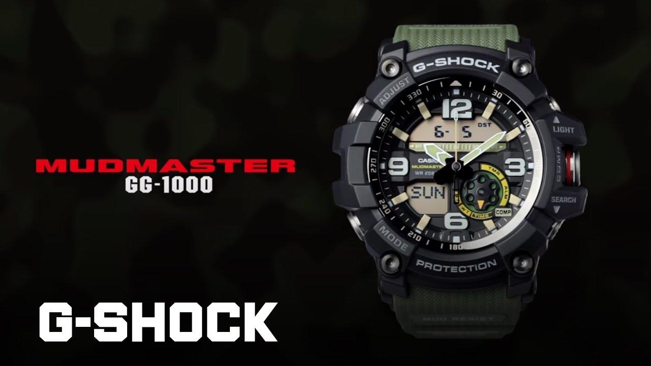 CASIO G-SHOCK MUDMASTER GG-1000 product video - YouTube c431733ed01