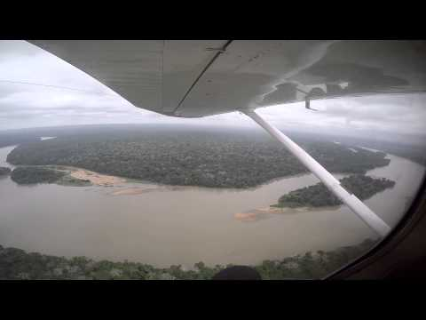 Flying over the Equatorial Rain Forests of the Congo Basin - Bayanga, C.A.R.