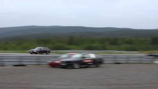 audi a6 avant tdi quattro 313 ps vs ferrari 458 italia on racetrack