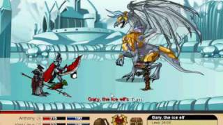 Dragon Fable: Me Vs Gary and Ice Dragon General