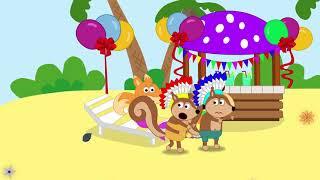 The Fox Family and Friends | Rainbow Waterpool | Cartoon for kids new funny season #808