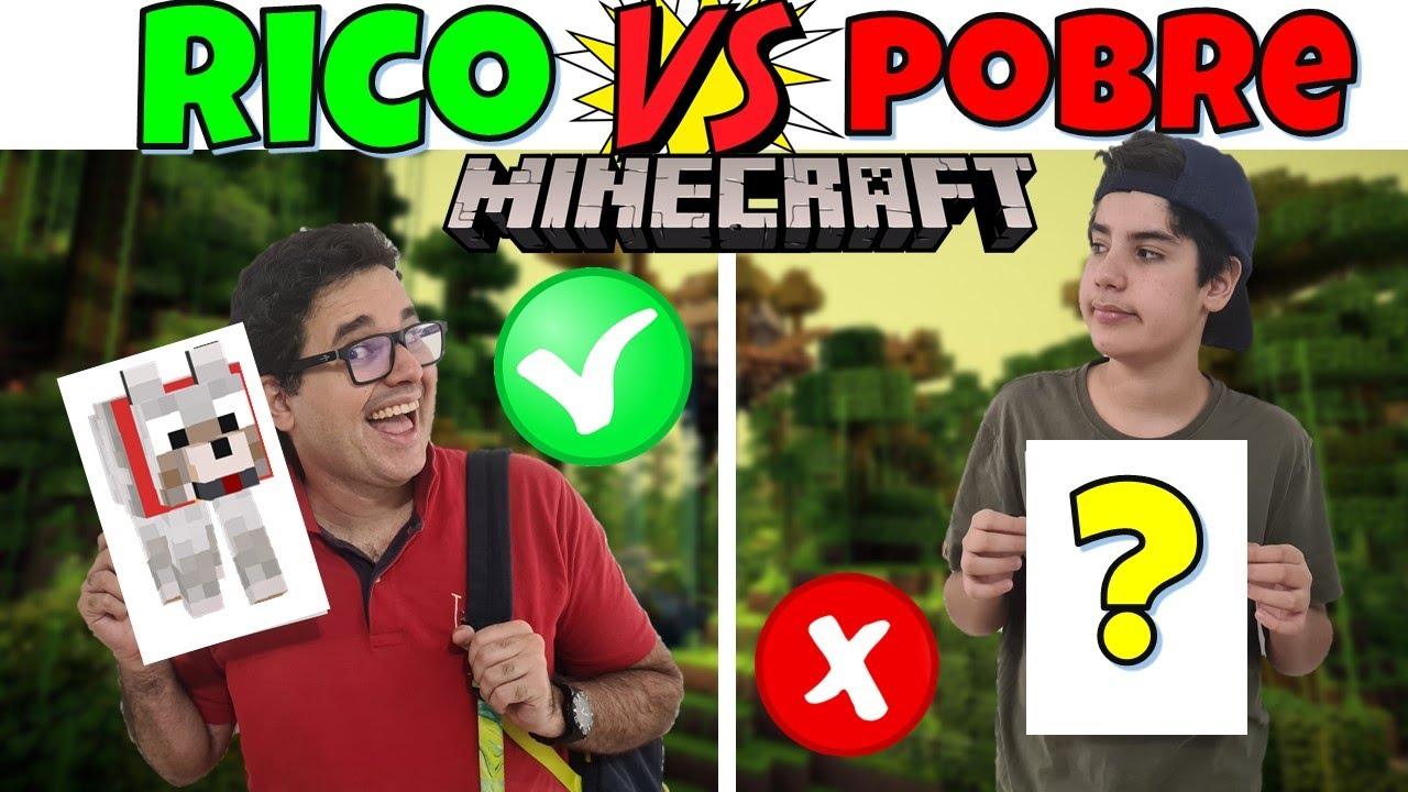 RICO VS POBRE MINECRAFT 3 | PEDRO MAIA