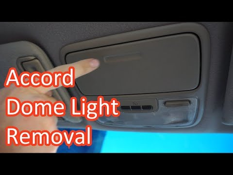 1998 2002 Honda Accord Dome Light Overhead Console Removal