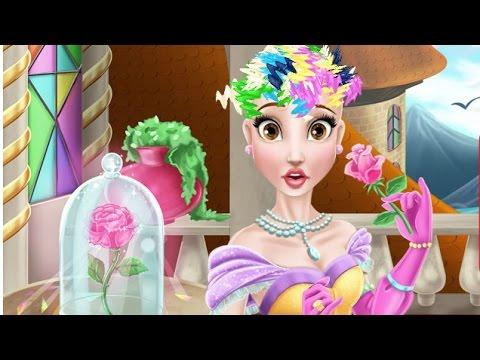 Бэль Игры—Бэль Дисней Принцесса в салоне красоты—Онлайн Видео Игры Для Детей Мультфильм 2015