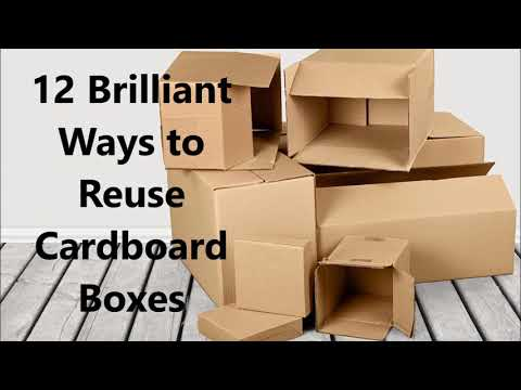 12 Brilliant Ways to Reuse Cardboard Boxes | Best out of waste craft | Cardboard box craft ideas