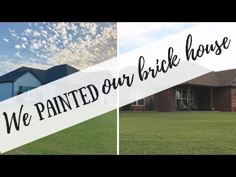 WE PAINTED OUR BRICK HOME | HOME UPDATE | HOW TO PAINT YOUR BRICK