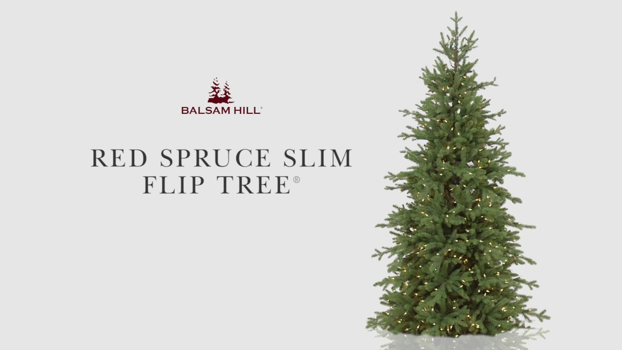 Red Spruce Slim Flip Tree From Balsam Hill