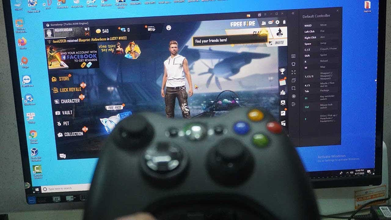How To Play Garena Free Fire Mobile On Pc With Joystick Xbox 360 Controller Gameloop Tutorial Youtube