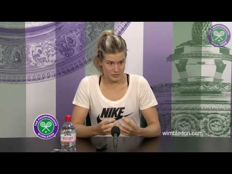 Eugenie Bouchard first round press conference
