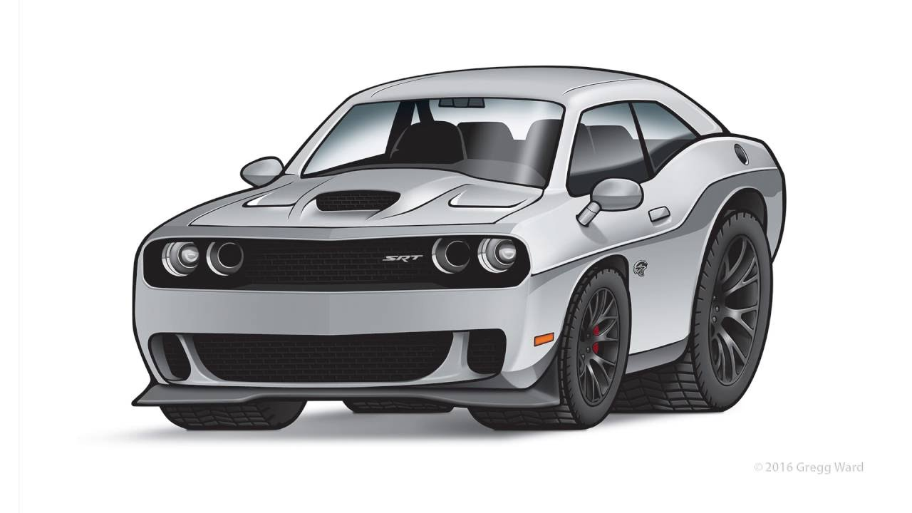 How to draw dodge challenger rt 2011 - Challenger Srt Hellcat Illustration