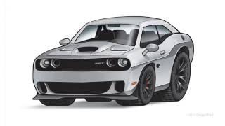 Challenger SRT Hellcat Illustration