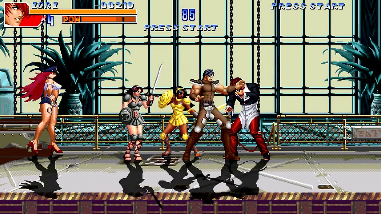 OpenBoR games: The King of Fighters Beat'em Up 2017 playthrough