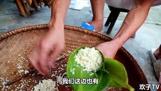 【欢子TV】农村大妈教你包粽子,一分钟学会