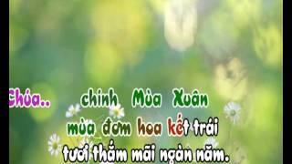 Chúa Mùa Xuân (Nam) - karaoke playback - http://songvui.org