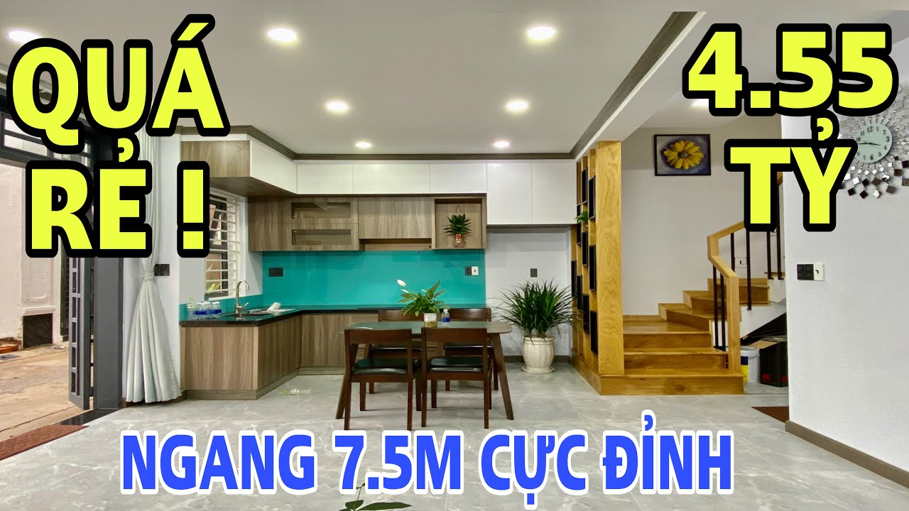 Bán nhà Gò Vấp 551| Siêu phẩm biệt thự mini phố hiện đại tại Cây Trâm với bề ngang 7.5m cực thoáng !