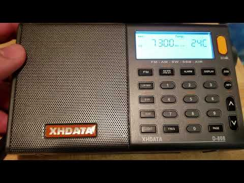 Tecsun PL-680 VS XHDATA D808 Receiver On BBC 7300 KHz Shortwave