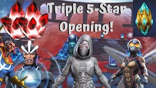 Triple 5-Star Crystal Opening! Dungeon Crystal! Ghost Hunting! - Marvel Contest of Champions