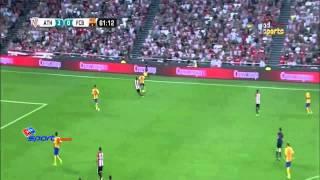 اهداف مباراة أتلتيك بيلباو 4-0 برشلونة كأس السوبر الأسباني 2015 8 14