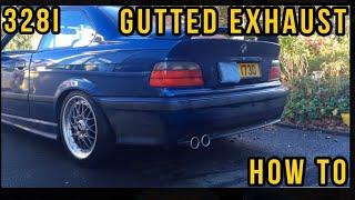 E36 BMW 328i Gutted Exhaust sound - Backfire