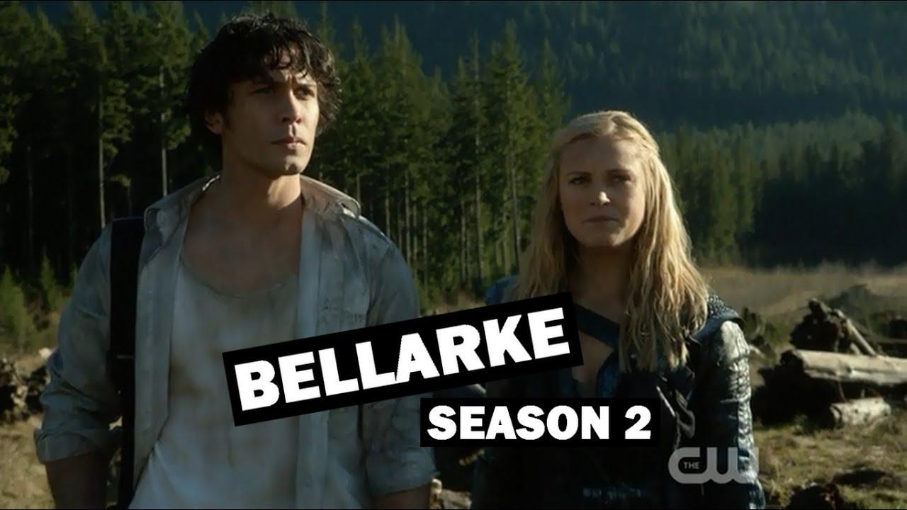 the 100 - all bellarke scenes / season 2