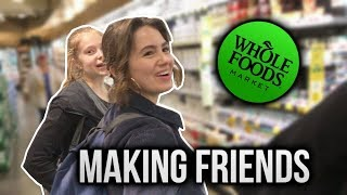MAKING FRIENDS AT WHOLE FOODS (nyc vlog #1)