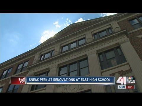 East High School in Kansas City, Mo., goes through major renovations before first day of school.