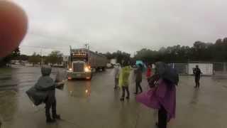 Smithfield Slaughterhouse Truck runs over Protesters