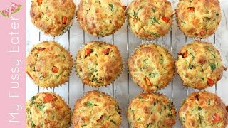 Spinach & Cheese Lunchbox Muffins | Healthy Lunch for Kids