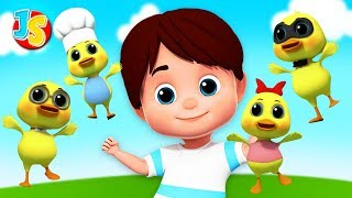 Funny Little Ducks | Ducks Song For Children | Baby Nursery Rhyme by Junior Squad