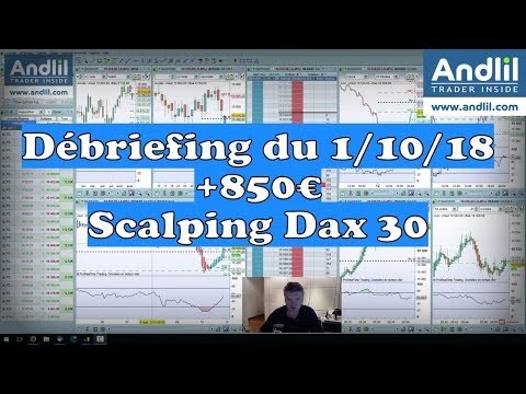 Scalping Dax 30 +850 € Debriefing  bourse et trading Andllil Benoist Rousseau