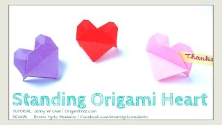 Valentine's Day Crafts - Origami Heart - Origami Standing Heart - Paper Heart- Easy Diy Paper Crafts