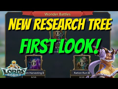New Research Tree Update! - Lords Mobile
