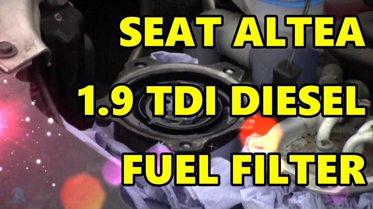 vw tdi fuel filter change [ 1280 x 720 Pixel ]