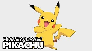 How to Draw Pikachu from Pokemon - Easy Step by Step Video Lesson