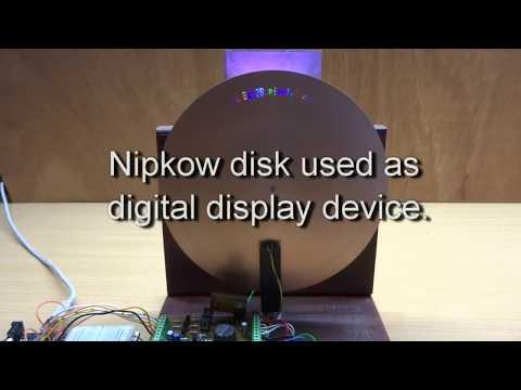 Nipkow disk display device using Arduino