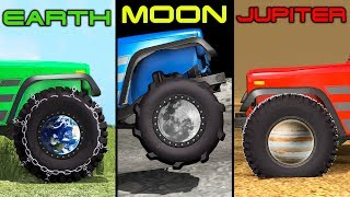 Gravity Difference: Earth, Moon, Jupiter - Beamng drive