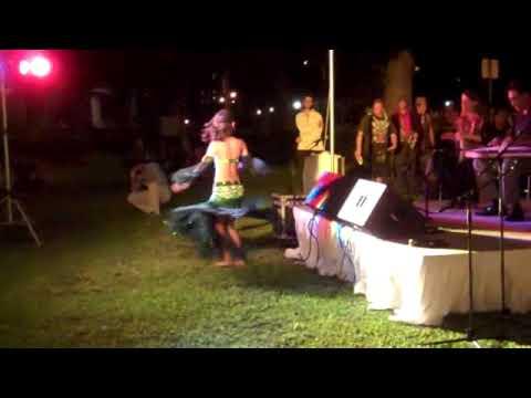 Tamr Henna Ensemble performing Fakkarooni in Hawaii State Art Museum