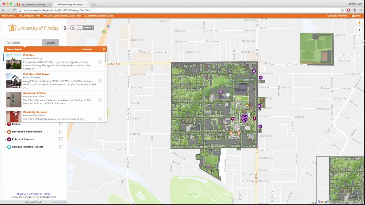 Uf Interactive Campus Map Youtube