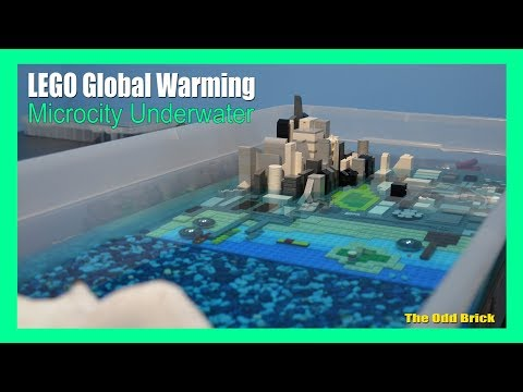 LEGO Flood with Real Water #2 - Global Warming - Microcity Underwater